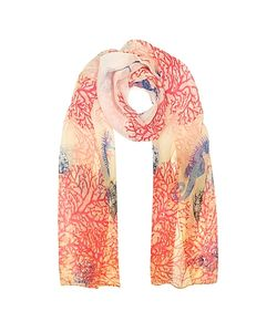 Mila Schon | Coral Reef Printed Chiffon Silk Stole
