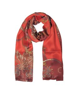Mila Schon | Ornamental And Pattern Printed Satin Silk Stole