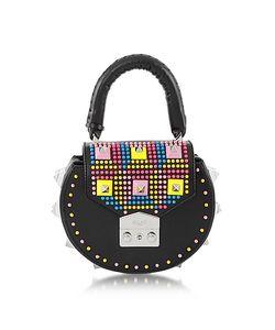 Salar   Mimi Pop Studded Leather Shoulder Bag
