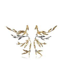 Aurelie Bidermann | 18k Plated Brass Mimosa Articulated Earrings