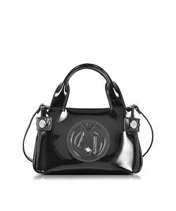 ARMANI JEANS | Signature Mini Patent Leather Tote Bag