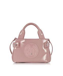 ARMANI JEANS | Signature Mini Patent Leather Tote Bag