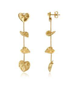 Torrini | Leaf Серьги Из Желтого Золота 18 Карат С Бриллиантами