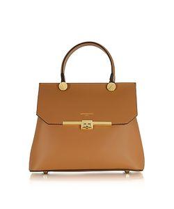 Le Parmentier | Genuine Leather Top Handle Satchel Bag