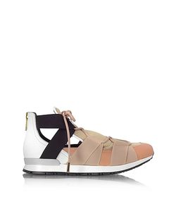 Vionnet | Leather And Elastic Bands Sneakers