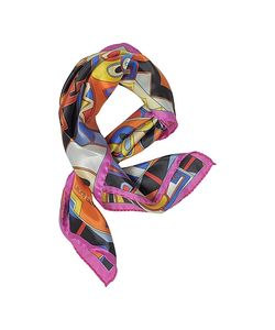 Laura Biagiotti | And Geometric Print Satin Silk Bandana
