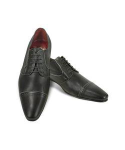 Fratelli Borgioli | Черные Туфли Ручной Работы Из Кожи Теленка С Декорированным Мысом