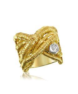 Orlando Orlandini | Capriccio Перекрещивающееся Кольцо Из Золота 18 Карат С Бриллиантом