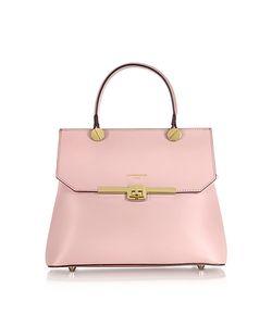 Le Parmentier | Atlanta Candy Leather Top Handle Satchel Bag W/Shoulder Strap