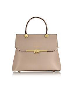 Le Parmentier | Genuine Leather Top Handle Satchel Bag W/Shoulder Strap