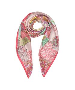 Mila Schon | Seahorses And Reefs Print Twill Silk Square Scarf