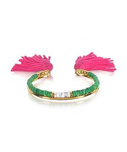 Aurelie Bidermann | 18k Plated Jaspe And Bamboo Beads Sioux Bracelet