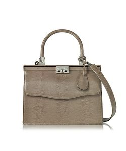 Rodo | Lizard Embossed Leather Top Handle Paris Bag