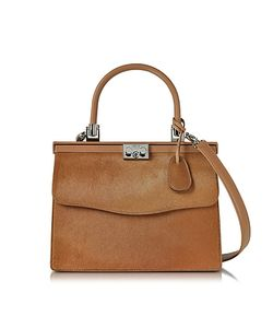Rodo | Light Hair-Calf And Leather Top Handle Paris Bag