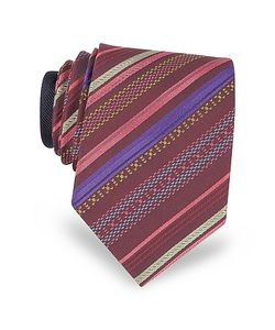 Missoni | Diagonal Stripe Woven Silk Narrow Tie