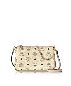 MCM   Millie Visetos Medium Zip Crossbody Bag