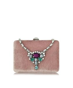 Rodo | Antique Velvet Collier Clutch W/Crystals