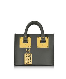 Sophie Hulme   Charcoal Saddle Leather Albion Box Tote Bag