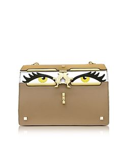 GIANCARLO PETRIGLIA | Light Color Block Leather Peggy Eyes Shoulder Bag