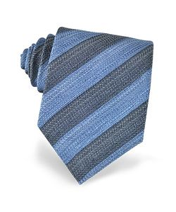 Forzieri | And Diagonal Striped Woven Silk Tie