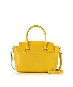 LANCASTER PARIS | Camelia Leather Satchel Bag W/Detachable Shoulder Strap
