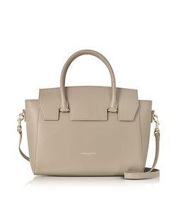 LANCASTER PARIS | Camelia Leather Tote Bag W/Detachable Shoulder Strap