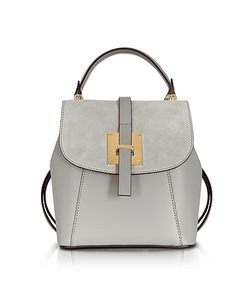Le Parmentier | Pearl Suede And Leather Small Backpack