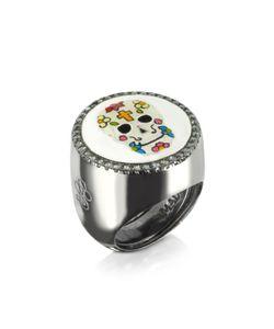 Azhar | Calavera Регулируемое Кольцо Из Серебра 925 Пробы С Напылением Родия