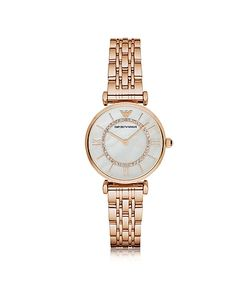 Emporio Armani | Rose Pvd Stainless Steel Womens Quartz Watch W/Mother Of Pearl