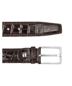 Manieri   Mens Croco Stamped Leather Belt