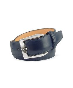 Pakerson | Mens Blue Hand Painted Italian Leather Belt