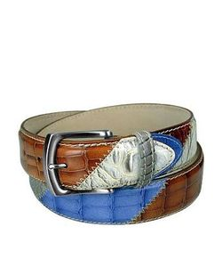 Manieri | Embossed Leather Patchwork Belt