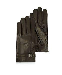 Moreschi | Alaska Темно-Коричневые Кожаные Мужские Перчатки С Подкладкой Из Кашемира