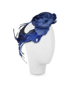 Nana' | Alba Шляпа Из Перьев В Форме Диска С Темно-Синим Цветком