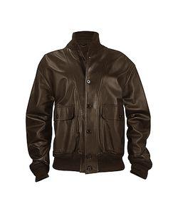 SCHIATTI & C | Темно-Коричневая Мужская Куртка Из Кожи Наппа С Двумя Карманами