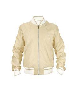 SCHIATTI & C | Mens Beige Nappa Leather Zip Jacket