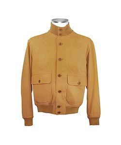 SCHIATTI & C | Итальянская Мужская Замшевая Куртка Бисквитного Цвета С Двумя Карманами
