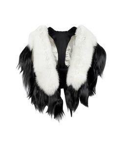 Fearfur | Bad Black Kite Черно-Белый Меховой Палантин