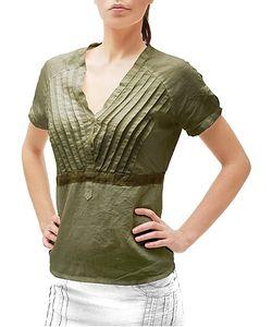 Julia Cocco' | Button-Front Short-Sleeve Linen Tunic