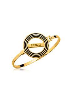 Kenzo | Золотистый Двухсторонний Браслет Ободок С Логотипом