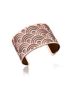 Les Georgettes | Poisson Браслет С Напылением Розового Золота И Двухсторонним Кожаным Браслетом Розового И Коричневого Цветов