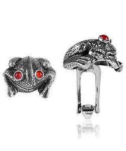Forzieri Exclusives | Sterling And Cornelian Frog Cufflinks