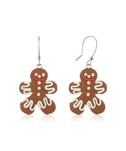 Dolci Gioie   Gingerbread Man Серьги Из Японской Глины