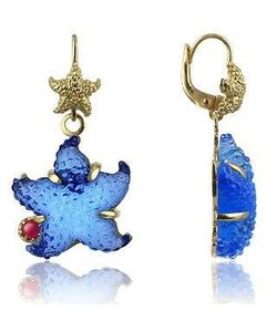 Tagliamonte | Marina Collection Starfish Rubie 18k Gold Earrings