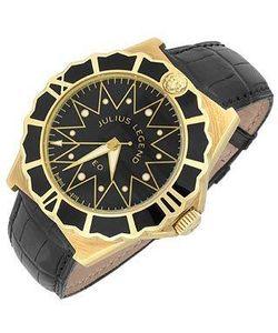 Julius Legend | Leo Автоматические Часы Из Золота 18 Карат С Ремешком Из Крокодиловой Кожи