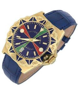 Julius Legend | Sea Fortune Часы Из Золота 18 Карат С Кожаным Ремешком