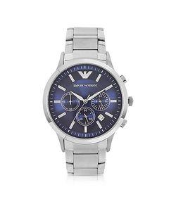 Emporio Armani | Мужские Часы Хронограф Из Нержавеющей Стали С Синим Циферблатом