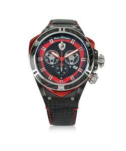 Tonino Lamborghini | Spyder Часы Хронограф Из Черной Нержавеющей Стали И Углеродного Волокна