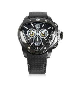 Tonino Lamborghini | Spyder Черные Часы Хронограф Из Нержавеющей Стали С Ремешком Из Углеродного Волокна
