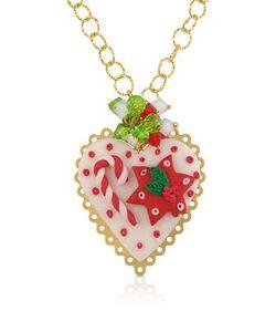 Dolci Gioie   Christmas Heart Колье Из Серебра И Глины